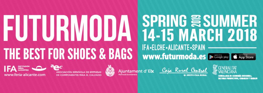 Cartel del evento Futurmoda donde participa Prefabricados Majoma