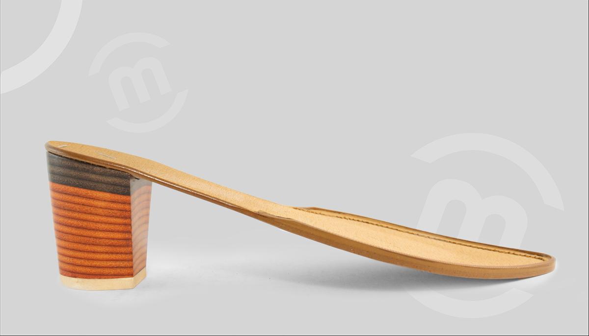Suela de zapato con tacón de Prefabricados Majoma
