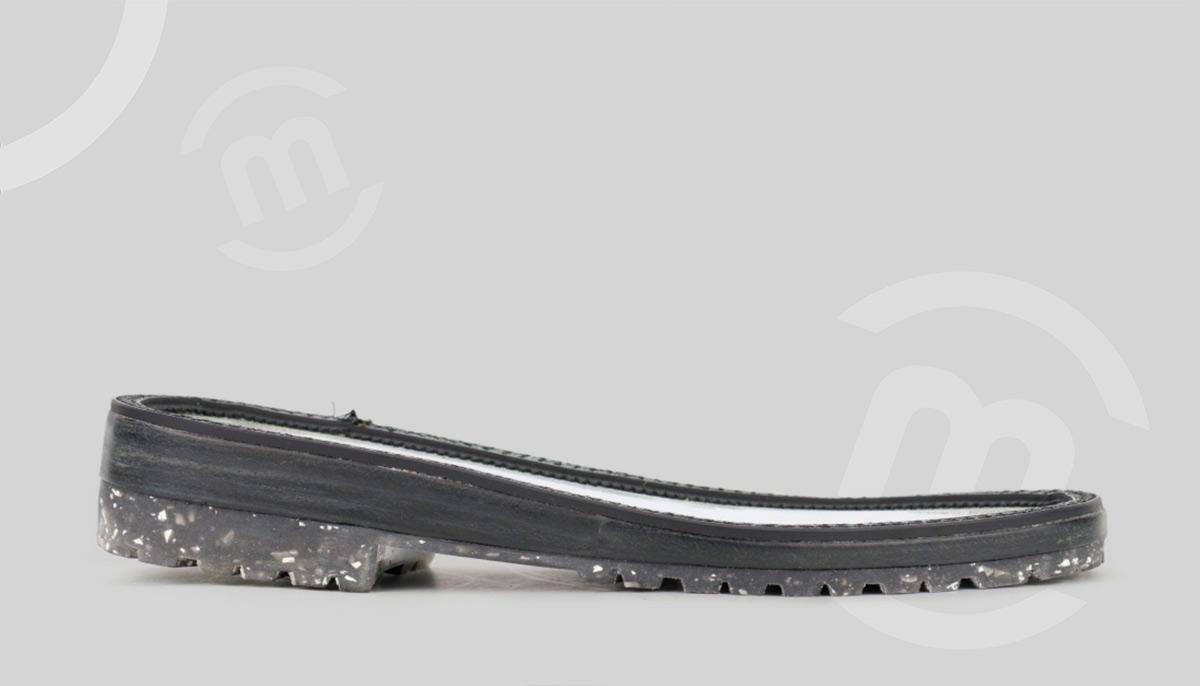 Suela de calzado a medida hecha con materiales sostenibles
